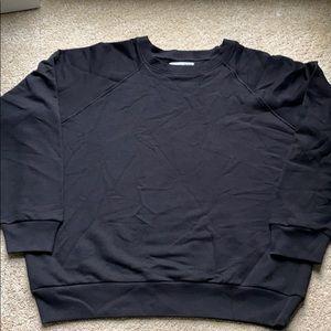 🌟reformation black cropped sweatshirt large